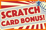 Super prices on the scratch card! Win bonus coins, vouchers and much more!