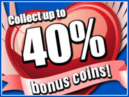 On the Flying Hearts you can get up to 40% more coins now!